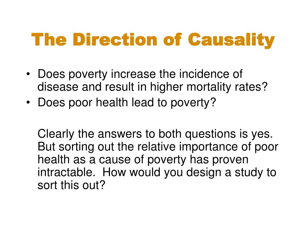 The Direction of Causality
