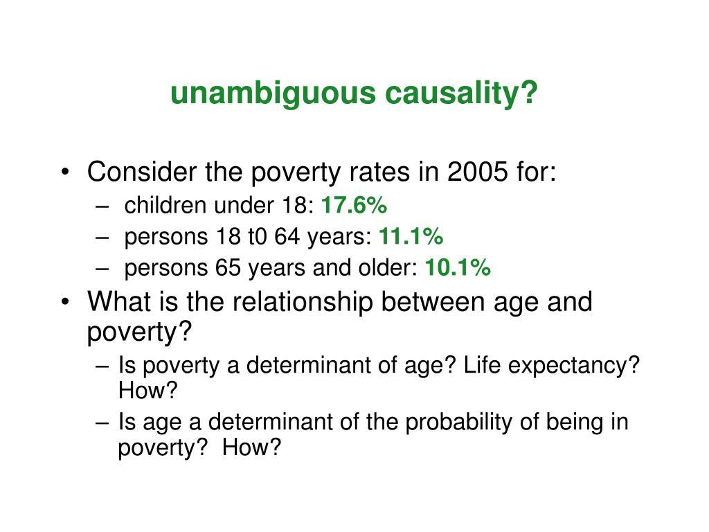 unambiguous causality?
