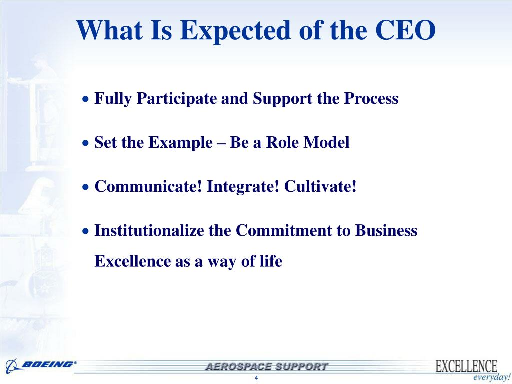 What Is Expected of the CEO