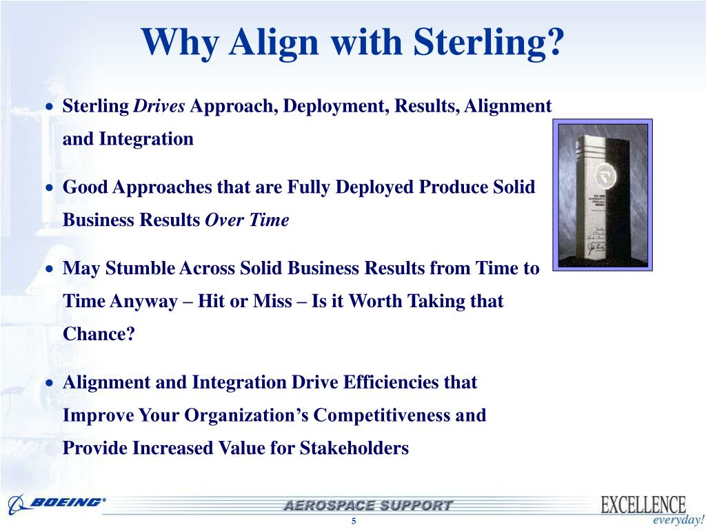 Why Align with Sterling?