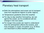 planetary heat transport