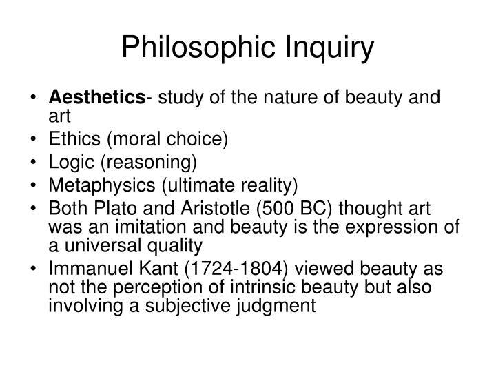 Philosophic Inquiry