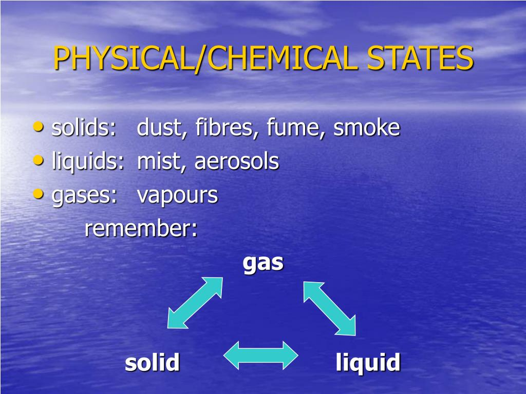 PHYSICAL/CHEMICAL