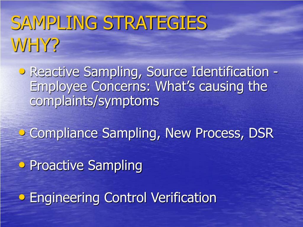 SAMPLING STRATEGIES