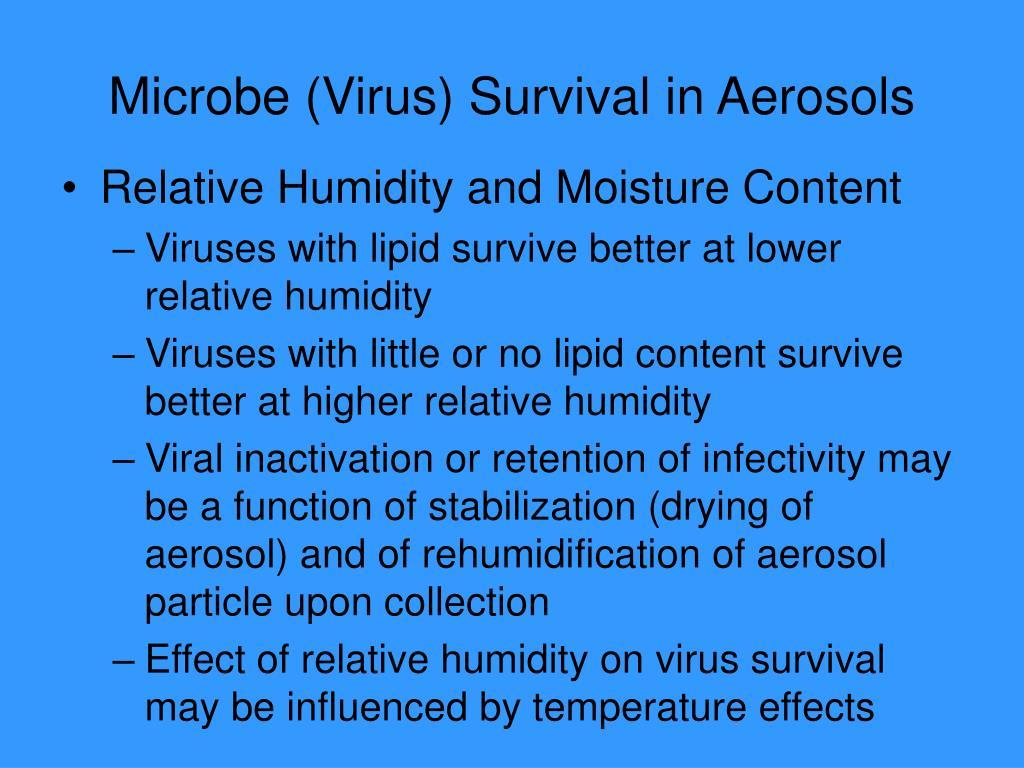 Microbe (Virus) Survival in Aerosols