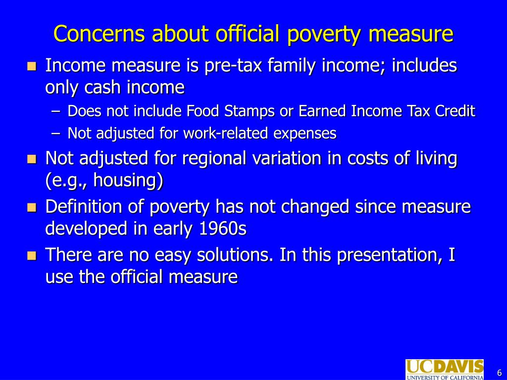 Concerns about official poverty measure