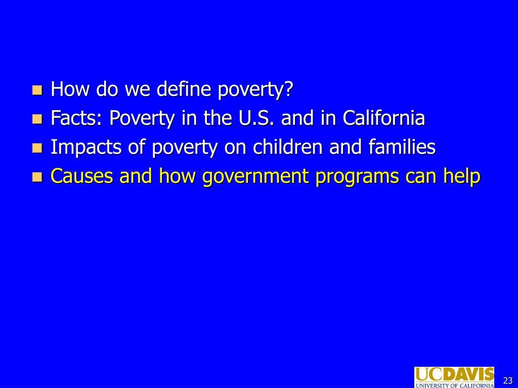 How do we define poverty?