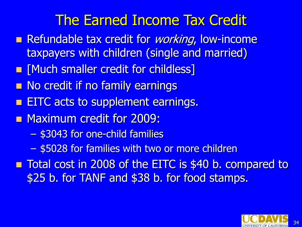 The Earned Income Tax Credit