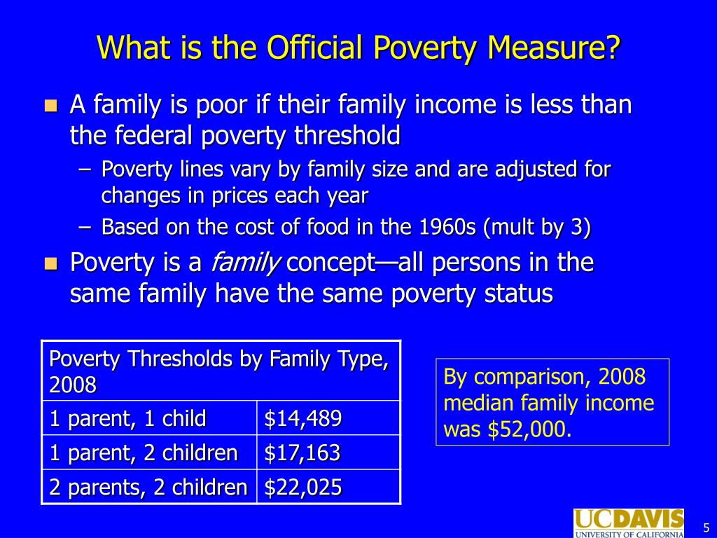 What is the Official Poverty Measure?