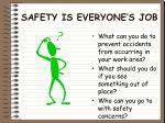 safety is everyone s job