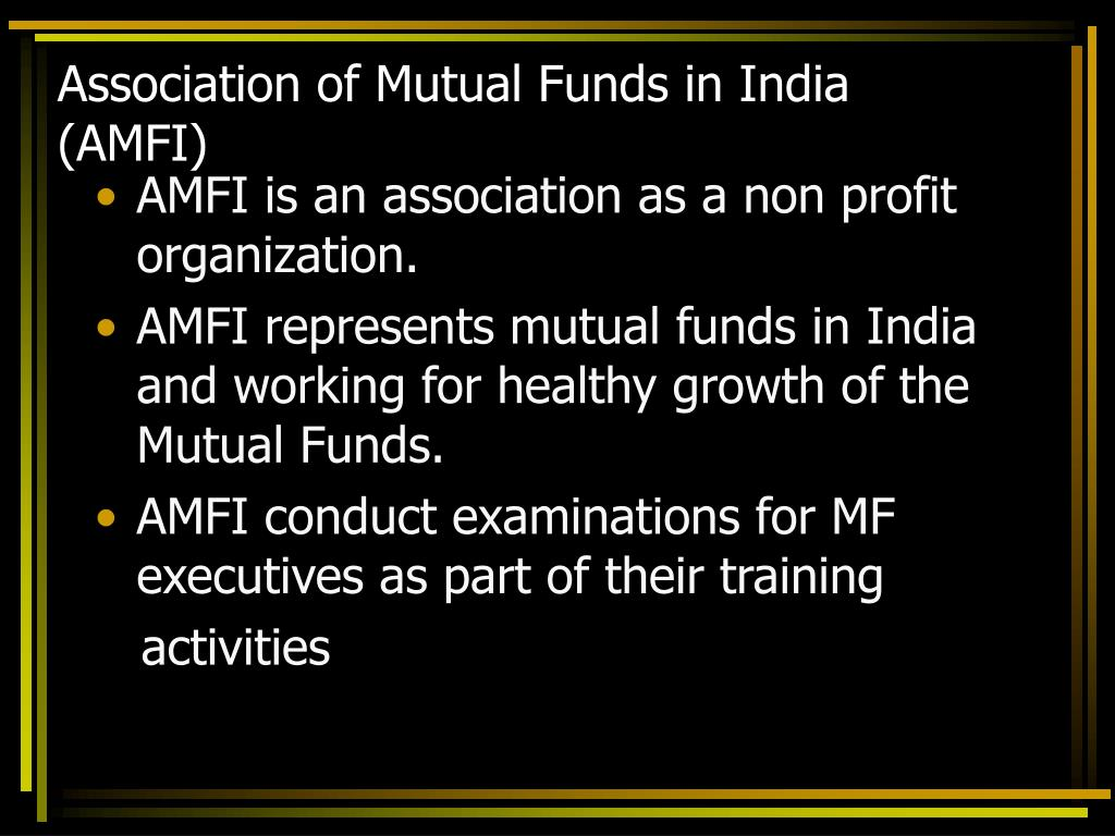 Association of Mutual Funds in India (AMFI)