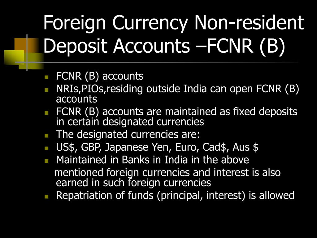 Foreign Currency Non-resident