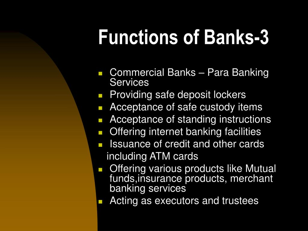 Functions of Banks-3