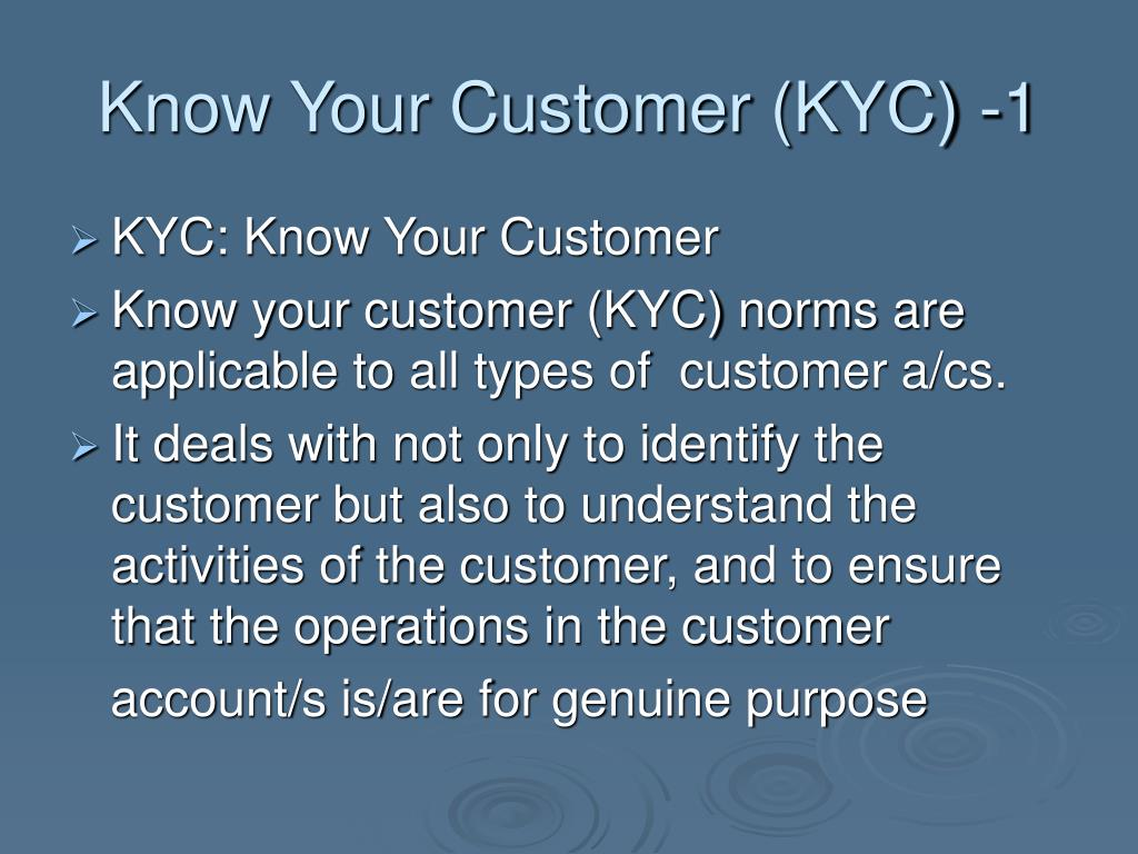 Know Your Customer (KYC) -1