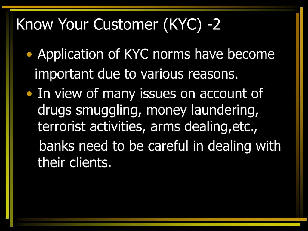 Know Your Customer (KYC) -2