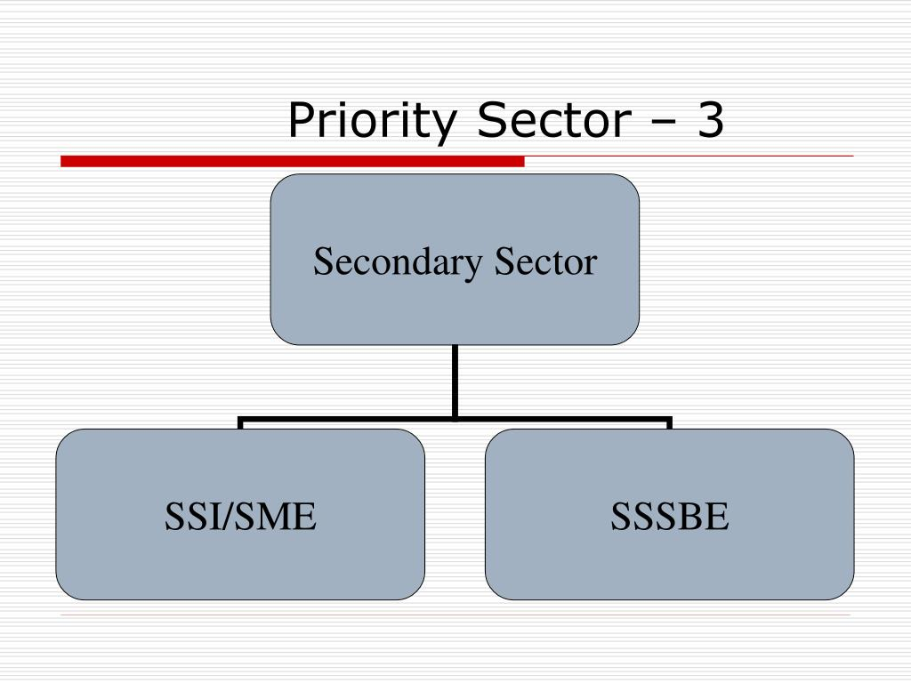 Priority Sector – 3