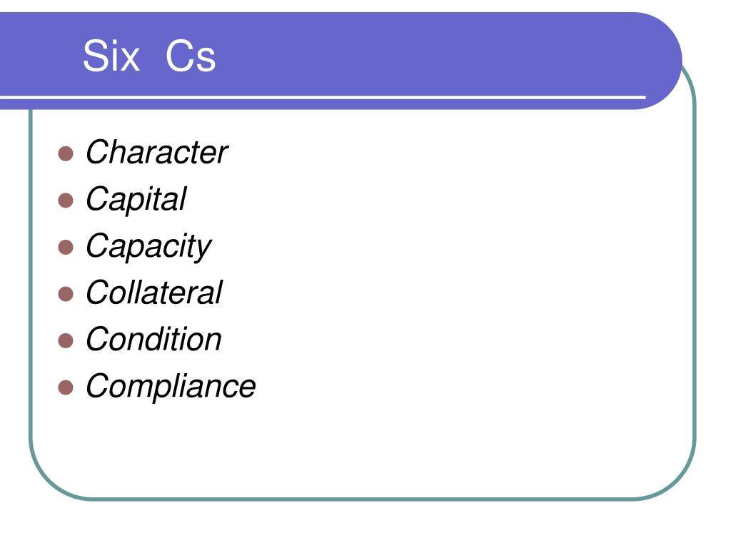 Six  Cs
