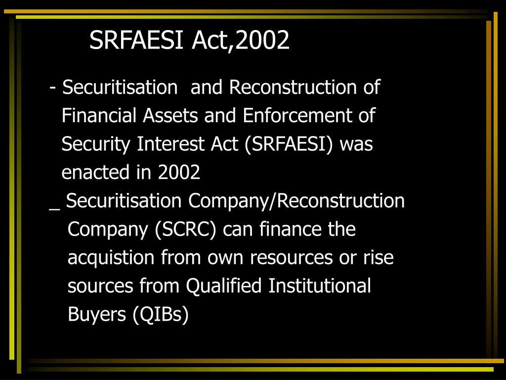 SRFAESI Act,2002
