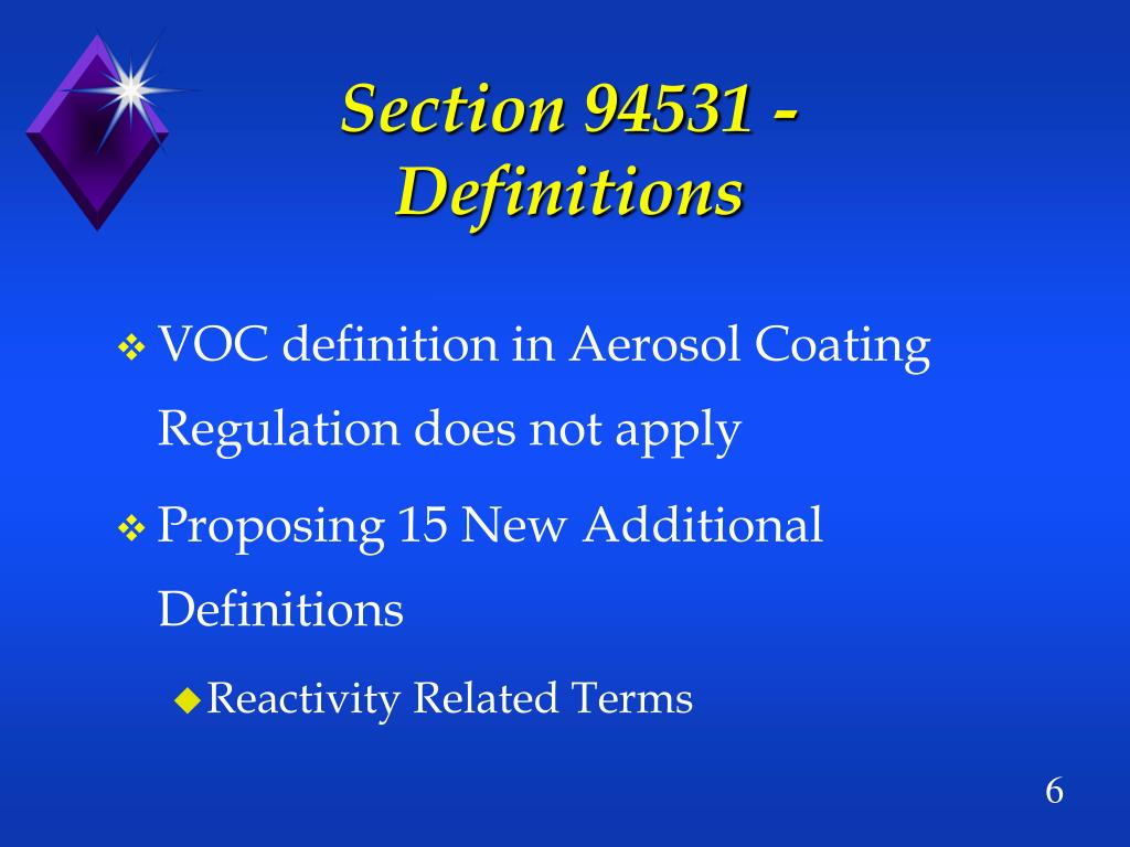 Section 94531 - Definitions