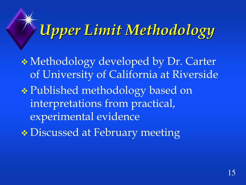 Upper Limit Methodology