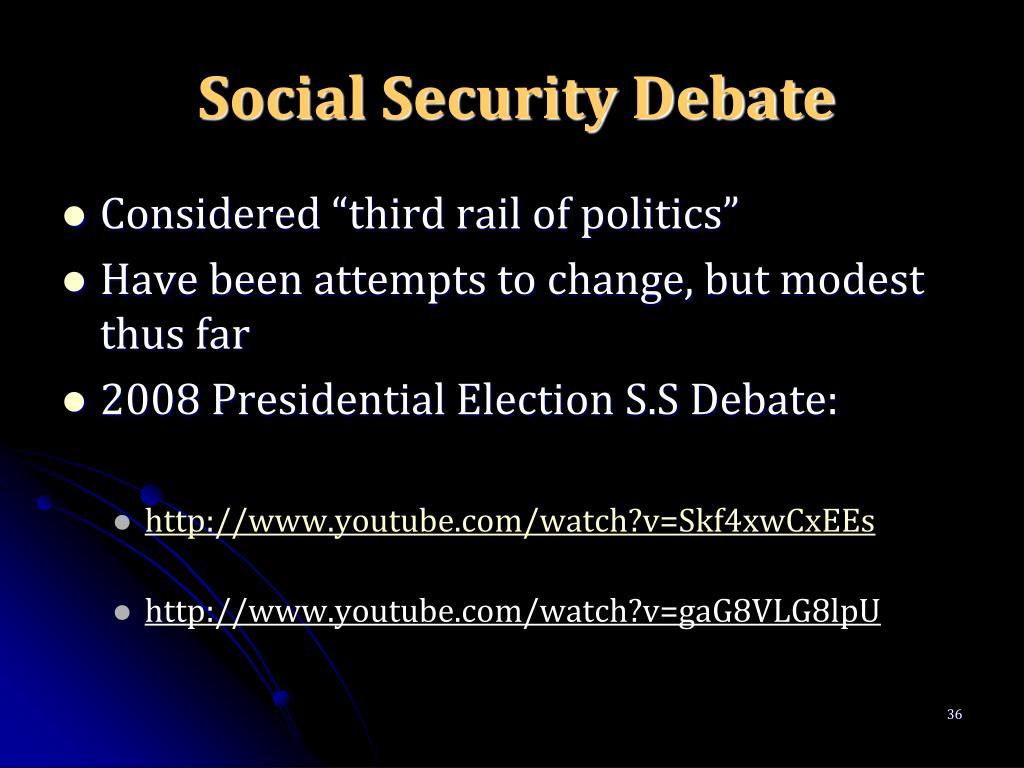 Social Security Debate