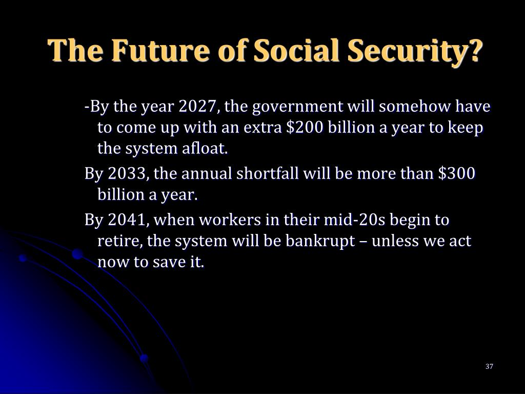 The Future of Social Security?