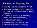elements of biosafety plan 1