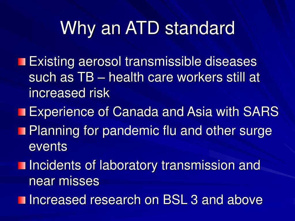 Why an ATD standard