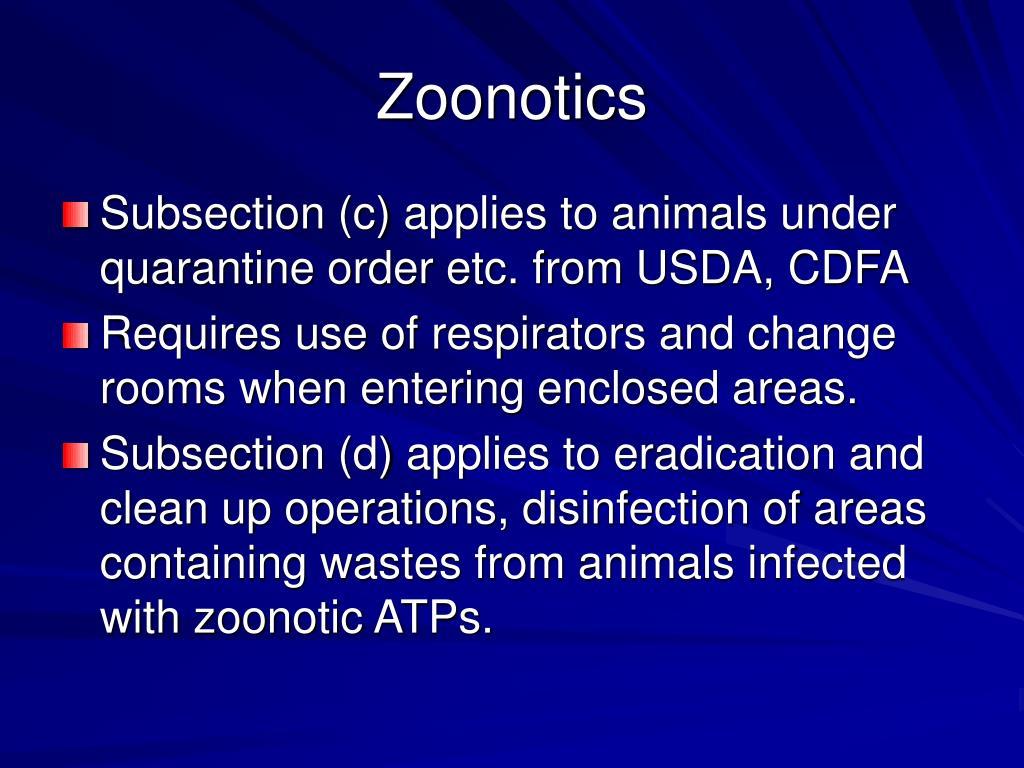 Zoonotics