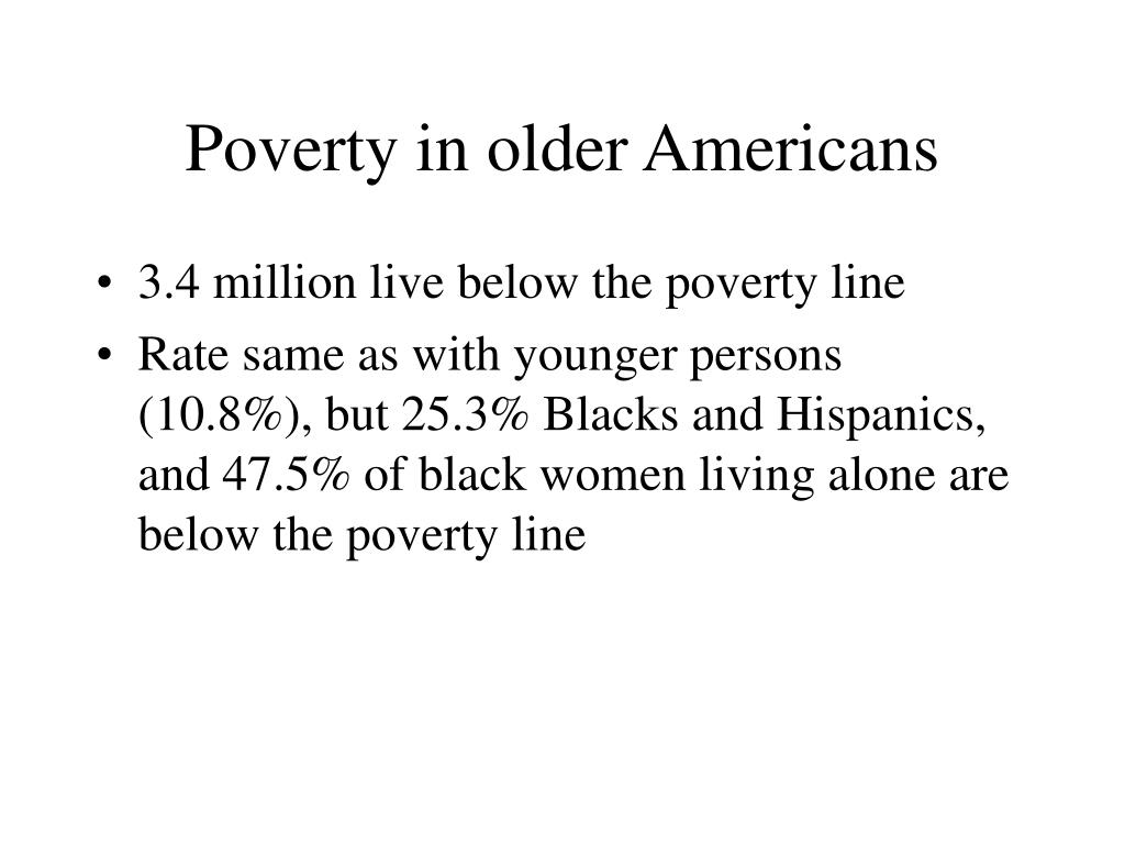 Poverty in older Americans