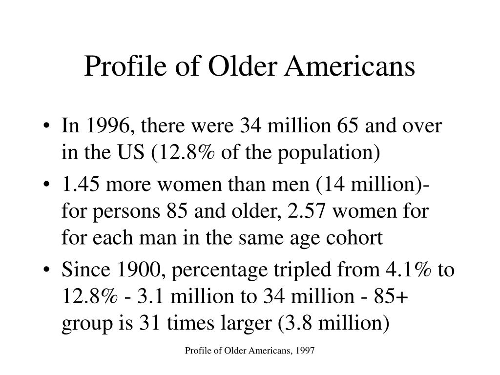 Profile of Older Americans