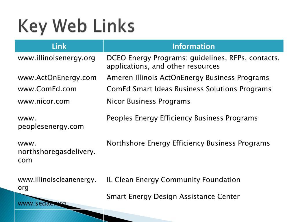 Key Web Links