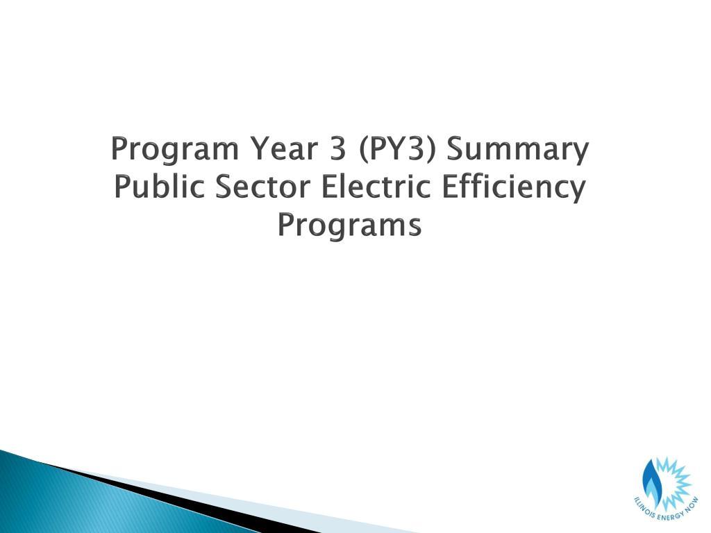 Program Year 3 (PY3) Summary