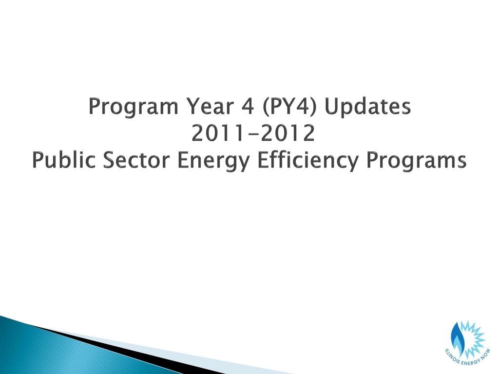 Program Year 4 (PY4) Updates
