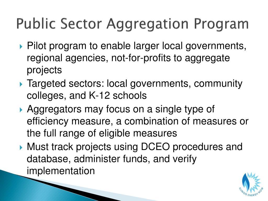 Public Sector Aggregation Program