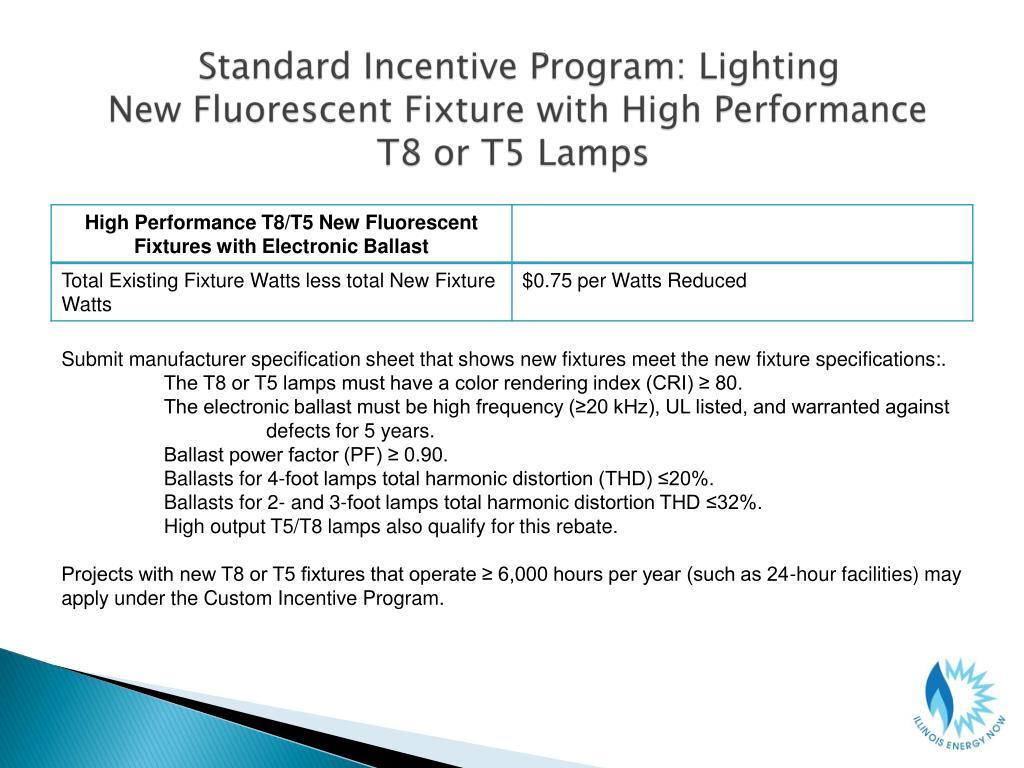Standard Incentive Program: Lighting