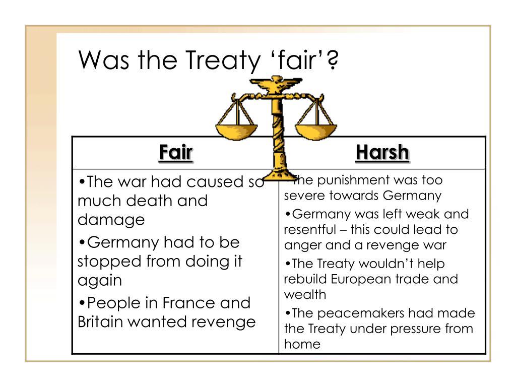Was the Treaty 'fair'?