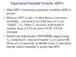 equivalent potential vorticity epv