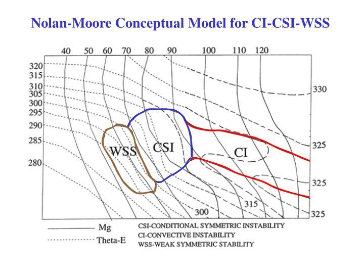 Nolan-Moore Conceptual Model for CI-CSI-WSS