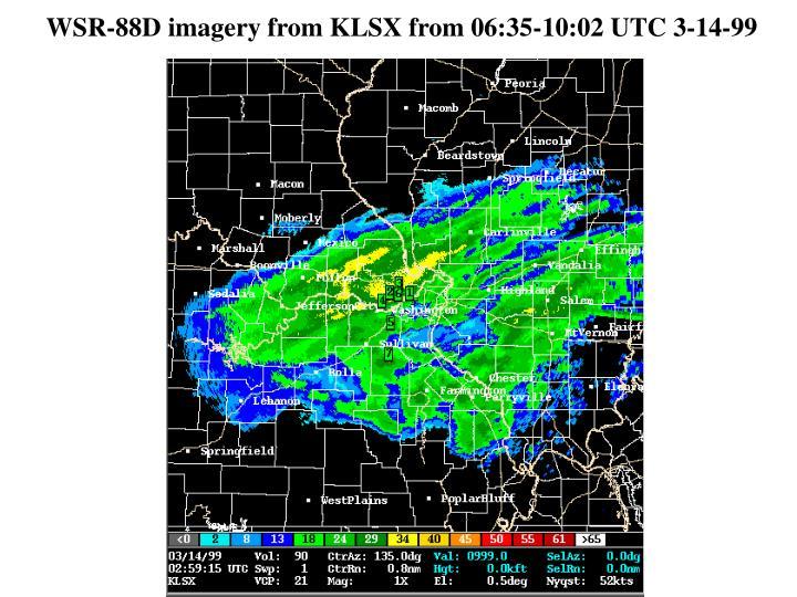 WSR-88D imagery from KLSX from 06:35-10:02 UTC 3-14-99