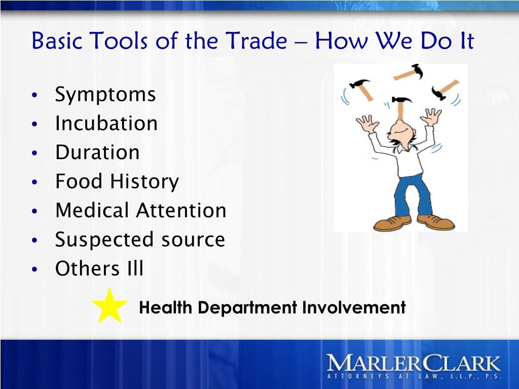 Health Department Involvement