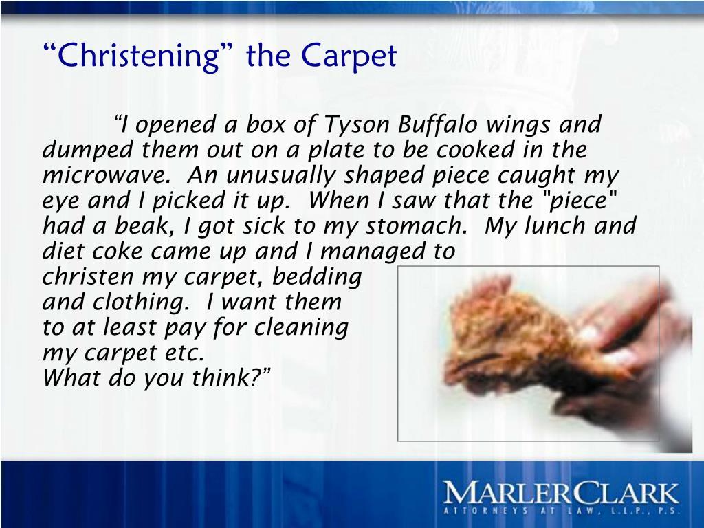 """Christening"" the Carpet"