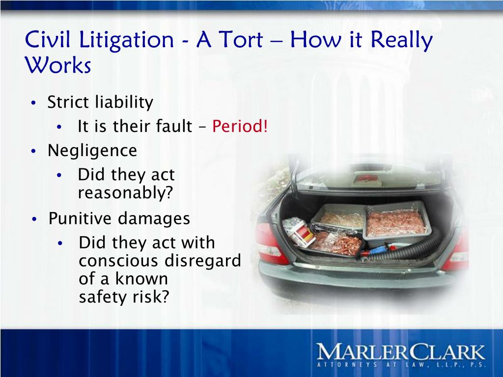 Civil Litigation - A Tort – How it Really Works