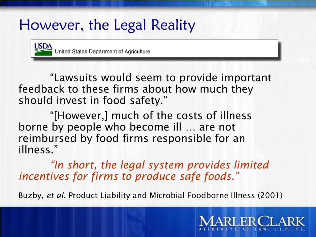 However, the Legal Reality