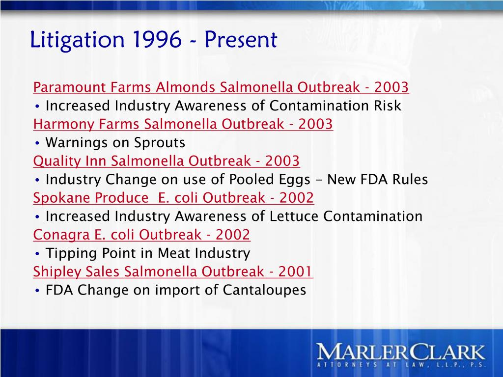 Litigation 1996 - Present