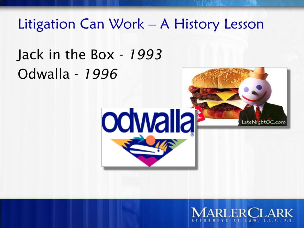 Litigation Can Work – A History Lesson