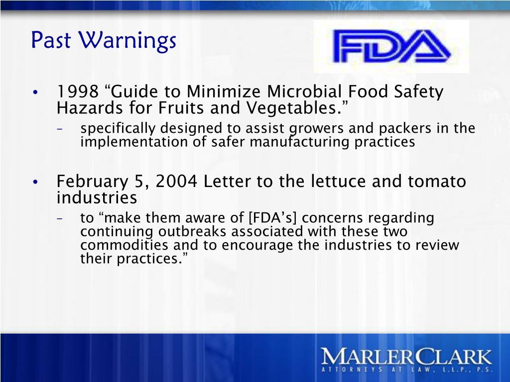 Past Warnings