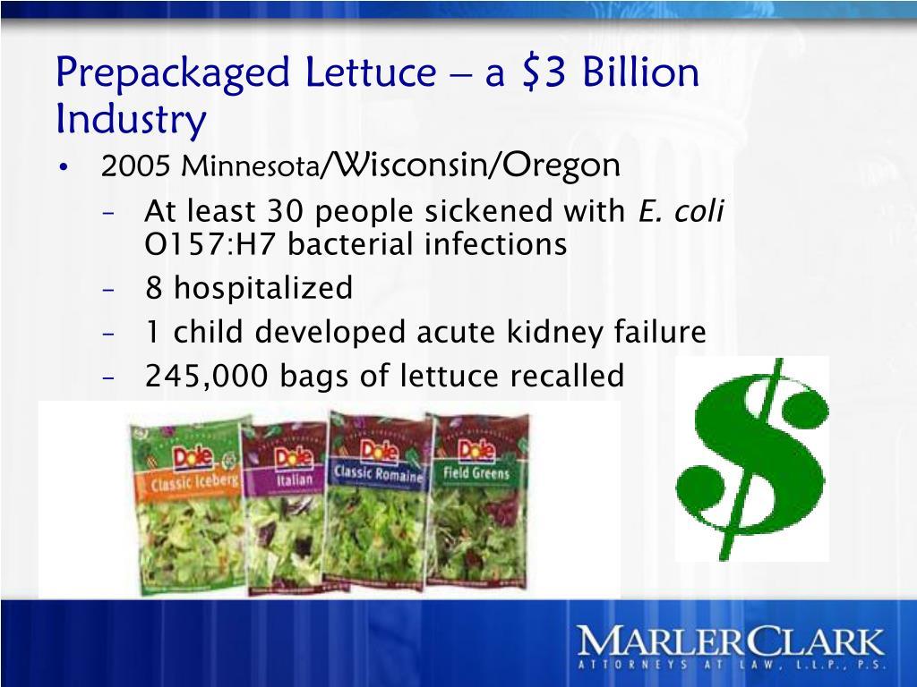 Prepackaged Lettuce – a $3 Billion Industry
