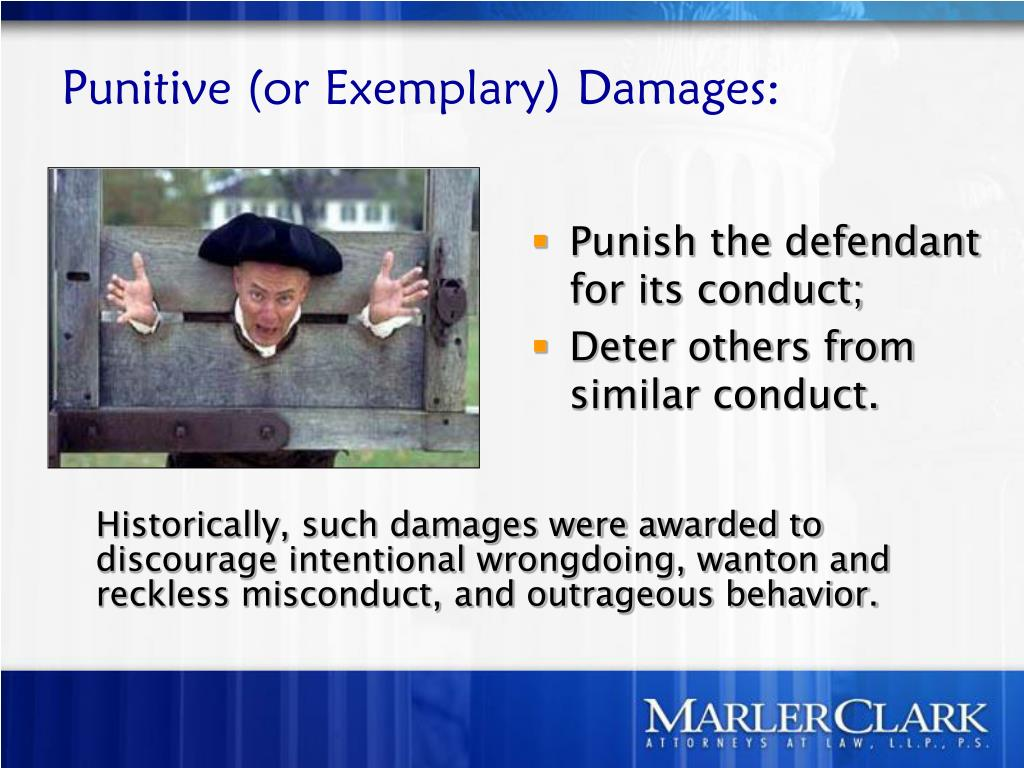 Punitive (or Exemplary) Damages: