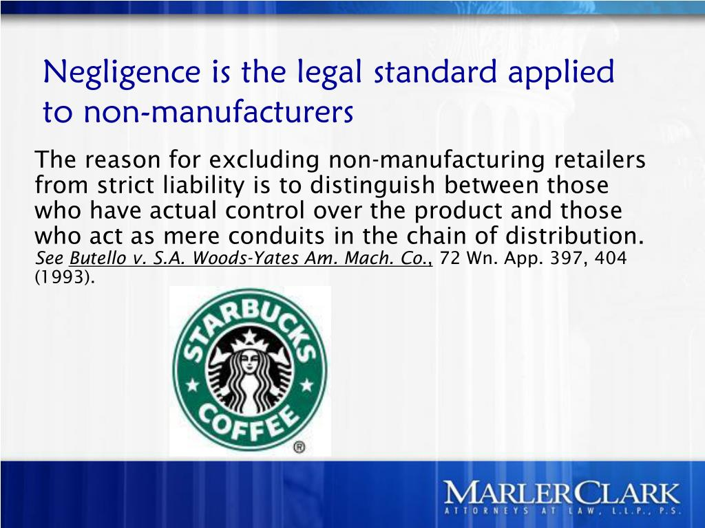 The reason for excluding non-manufacturing retailers from strict liability is to distinguish between those who have actual control over the product and those who act as mere conduits in the chain of distribution.